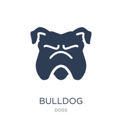 Bulldog icon. Trendy flat vector Bulldog icon on white background from dogs collection
