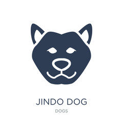 Jindo dog icon. Trendy flat vector Jindo dog icon on white background from dogs collection