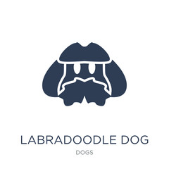 Labradoodle dog icon. Trendy flat vector Labradoodle dog icon on white background from dogs collection