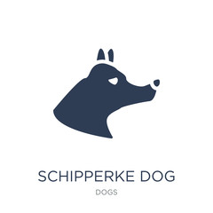 Schipperke dog icon. Trendy flat vector Schipperke dog icon on white background from dogs collection