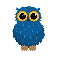 cartoon owl on white