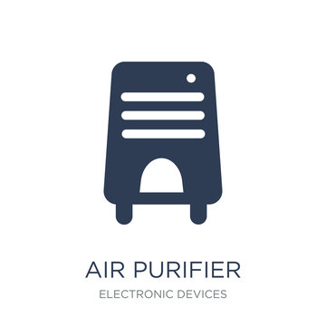 Air purifier icon. Trendy flat vector Air purifier icon on white