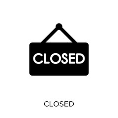 Closed sign icon. Closed sign symbol design from Museum collection.