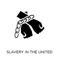 slavery in the united states icon. slavery in the united states symbol design from United states of america collection.