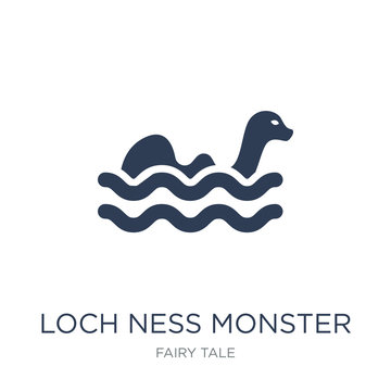 Loch ness monster icon. Trendy flat vector Loch ness monster icon on white background from Fairy Tale collection