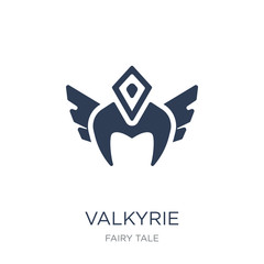 Valkyrie icon. Trendy flat vector Valkyrie icon on white background from Fairy Tale collection