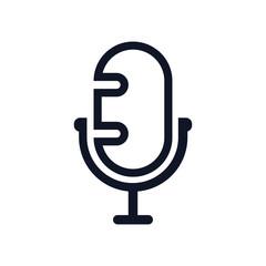 mic silhouette icon design template vector