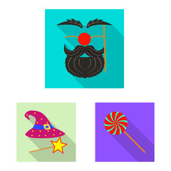 Vector design of party and birthday symbol. Collection of party and celebration stock vector illustration.