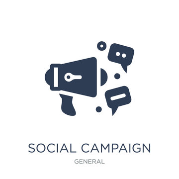 social campaign icon. Trendy flat vector social campaign icon on white background from General collection