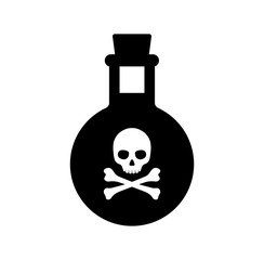 poison  bottle / toxic icon