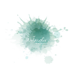 Blue watercolor blots on white background. Vector illustration