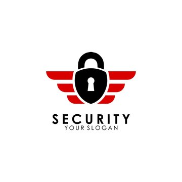 padlock logo template