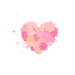 Pink heart, vector element for your design