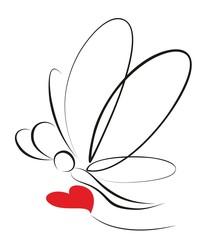 Набросок стилизованной бабочки.