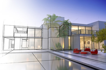 Luxury villa design in progress