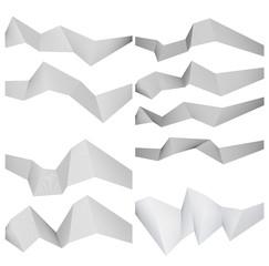 polygon lines form angle ribbon design element effect 3d31