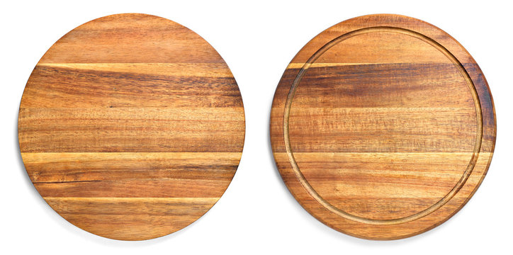 Wooden cutting board with copy space. design element, isolated on white background. Wood texture, old wood board.