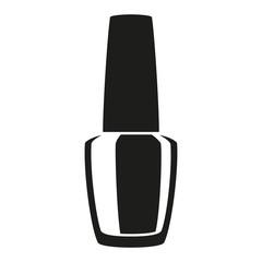 Black and white nail polish silhouette
