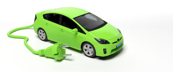 Voiture électrique verte