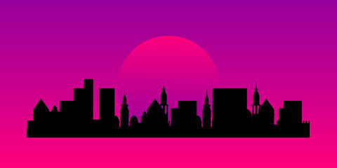 Silhouette of a city landscape