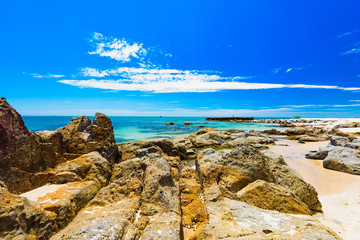 sea beach sand stone