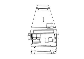 sketch city bus vector