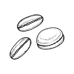 Makaron cookie icon. isolated drawing object