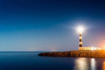 Artrutx Lighthouse in Minorca, Spain. Wall mural