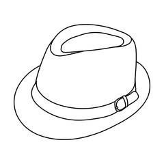 men's hat sketch, lines