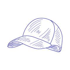 blue sketch baseball cap
