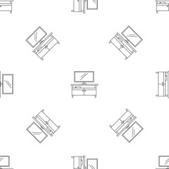 Tv home cinema pattern seamless vector repeat geometric for any web design