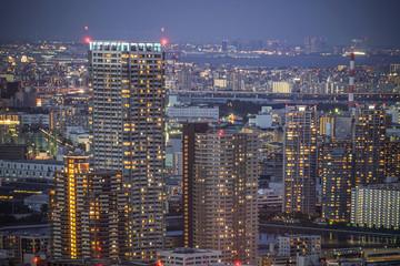 カレッタ汐留からの東京の夜景