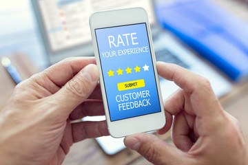 Customer feedback form rate you experience star rating