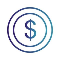 dollar Ecommerce Line Gradient Icon