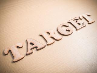 Target. Words Typography Concept