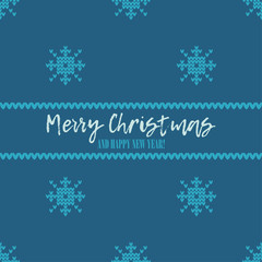 Seamless vector background with Knitted decorative snowflakes. Merry Christmas and Happy New Year! Winter pattern. Can be used for wallpaper, textile, invitation card, wrapping, web page background.