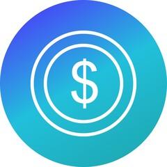 dollar Ecommerce Circle Gradient Icon