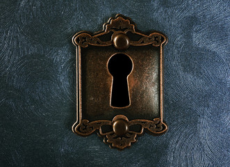 Vintage lock closeup