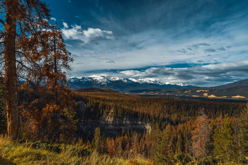 The stunning mountain range of Jasper, Alberta, Canada