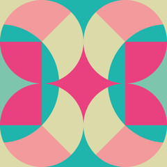 Seamless soft retro circles pattern