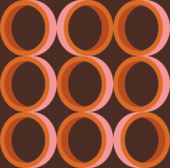 Seamless retro circles pattern