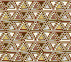 Geometrical seamless pattern consisting of triangular elements. Useful as design element for texture and artistic compositions.