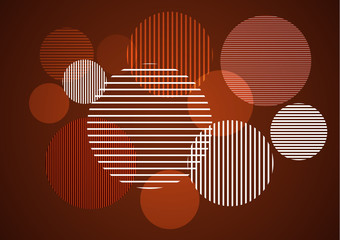 Foto op Canvas Grafische Prints Abstract vertical, horizontal stripes in a circle - vector for print or design.