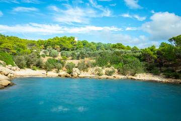 Canvas Prints Turquoise Urlaub, Mallorca, Valldemossa, Starand, Meer, Möven, Zitronen, Berge, Blumen, Wandern, Reisen