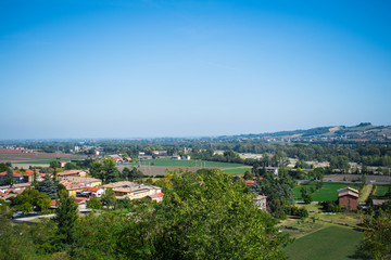 Panoramic view of Parma countryside, Emilia Romagna, Italy