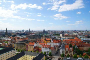 Top view of the beautiful architecture of Copenhagen. Denmark. Architecture.