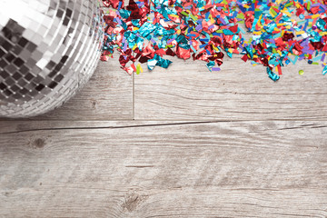 NYE2019: Disco Ball Party Background With Space For Text