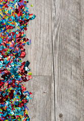 NYE2019: Confetti Party Background with Large Copyspace