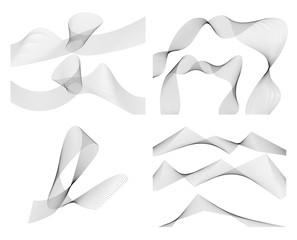 wavy lines form spiral ribbon design element effect 3d82