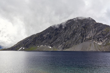 kaltes Wetter in Norwegens Bergen